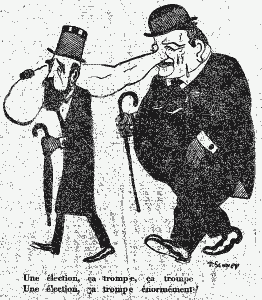 Caricature de Churchill AF 1er nov. 1924